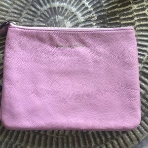 Rebecca minkoff pink leather Wristlet bag new